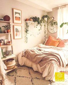 College Bedroom Decor, Teenage Room Decor, Room Ideas Bedroom, Small Room Bedroom, Home Bedroom, Bedroom Modern, Master Bedroom, Bedroom Inspo, Small Bedroom Inspiration