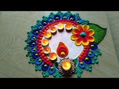 Rangoli is a conventional Indian art of decorating the entrance to a residence. Here are 50 most attractive looks Of Rangoli design for Diwali Rangoli Designs Simple Diwali, Happy Diwali Rangoli, Rangoli Simple, Indian Rangoli Designs, Rangoli Designs Latest, Rangoli Designs Flower, Free Hand Rangoli Design, Rangoli Border Designs, Small Rangoli Design