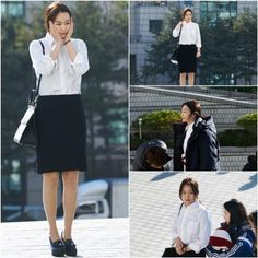 """Shin Min Ah Braves the Cold for """"Oh My Venus"""" Shoot"""