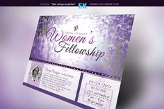 Women's Fellowship Flyer Template by Epickita on Creative Market