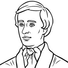 henry david thoreau coloring page