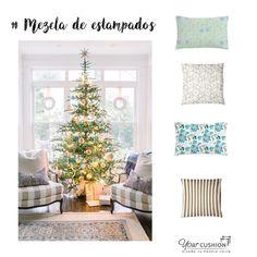 ¿Tú también quieres un rincón navideño tan bonito como este? 🤔😏 MUY FÁCIL 👌 Consigue el look de esta inspiración incorporando cojines y almohadones a medida alrededor de tu árbol de Navidad 🎄 ¡El secreto está en la mezcla! 🤫😉 Combina diferentes formas, tamaños y estampados 🤩   Con el personalizador de cojines online de Your Cushion  y nuestras más de 500 telas de interior, podrás diseñar tú mismo los almohadones y cojines a medida de tu nuevo rincón de Navidad con adornos #DIY 🤩
