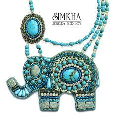 Olga Shneiderova bead embroidered elephant