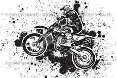Enduro Offroad Motocross Vector Graphic Illustration - 54ka StockPhoto