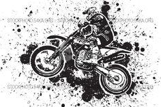 Enduro Offroad Motocross Vector Graphic Illustration - 54ka StockPhoto
