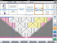 knitCompanion - fabulous iPad app for using PDF knitting patterns! (look in to this)