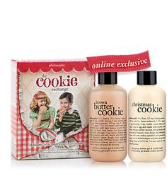 Brown Butter Cookie and Christmas Cookie-scented shampoo and bubble bath!