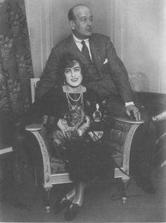 """Grand Duke Boris Vladimirovich Romanov of Russia with his wife. """"AL"""""""