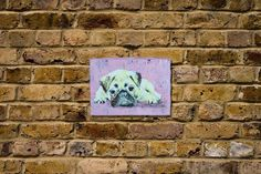 Pug original spray paint art Available  more information Please mail to info@spray-art.jp for purchase and information.