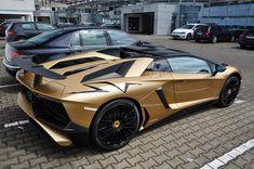 Lamborghini Aventador Super Veloce Roadster painted in Oro Elios Photo taken by: @leonidschwenke on Instagram
