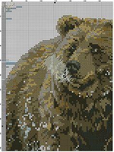 X stitch bear in snow 1