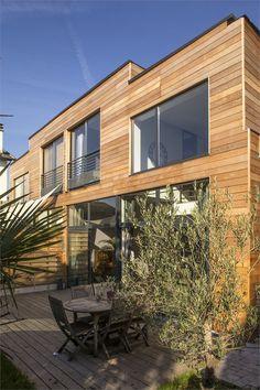 Maisons Bois jumelles - Maison en bois et chanvre - Arcueil, France - 2012 Benoit Robein