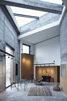 Tsao McKown combined four structures into a three story educational center in Shanghai- architecture, design, interior Interior Design Magazine, Interior Architecture, Interior And Exterior, Industrial House, Interior Inspiration, Design Inspiration, Modern Design, Design Design, Design Ideas