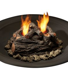 Look at this Oak Two-Can Real Flame Outdoor Log Set on #zulily today!
