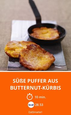 Süße Puffer aus Butternut-Kürbis - smarter - Zeit: 10 Min.   eatsmarter.de