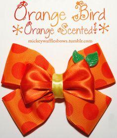 Mickey Waffles Bows - Orange Bird