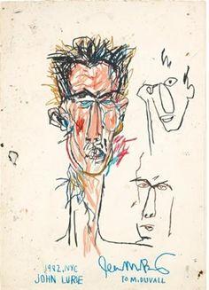 Jean Michel Basquiat, John Lurie,1982 seen @mudec, Jean Michel Basquiat, Milano 2017