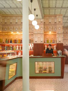 Wes Anderson has ventured into interior design, with a bar intended to recreate the atmosphere of Milanese cafes inside the OMA-designed Fondazione Prada in Milan.