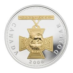 Proof Silver Dollar – Anniversary of the Victoria Cross Canadian Things, Gold And Silver Coins, Coin Ring, Old Coins, How To Get Rich, Goods And Services, Silver Dollar, Coin Collecting, Postage Stamps