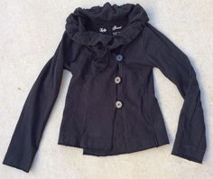 Lucky Brand Women's Cotton Jacket Black Size Small. C #LuckyBrand #BasicJacketwithHood