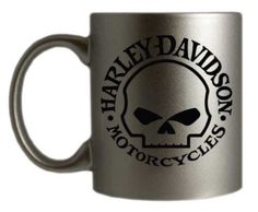 Harley-Davidson Willie G. Skull Logo Silver Coffee Mug - Real Time - Diet, Exercise, Fitness, Finance You for Healthy articles ideas