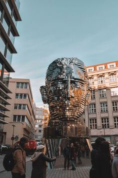 Prague, Czech Republic Has Modern Art Too Like This Rotating Franz Kafka Head Prague Travel Guide, Travel Europe, Shopping Travel, Budget Travel, Prague Shopping, Croatia Travel, Prague Things To Do, Places To Travel, Places To See