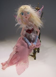 LENA Royal Faerie ball jointed paper clay art by Kaeriefaerie52, $65.00