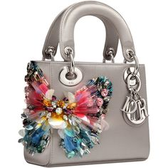 My Lil Sis has this one. #LS | Lady Dior Jeweled Butterfly Bag