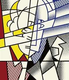 This extremely abstract self portrait by Roy Lichtenstein was painted in 1976 by oil on magna canvas. I like how abstract this is because it allows for endless interpretations for how Lichtenstein felt/ saw himself when he painted this.