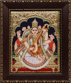 Tanjore Paintings - Saraswathi