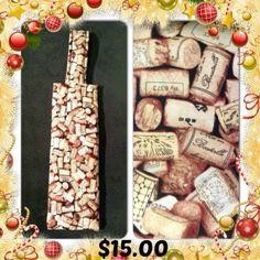 Cork It Sack - $15.00 for standard bottle size  http://steveswinesack.webs.com/ http://www.facebook.com/winesack  #wine #winegifts #steveswinesack #winecarriers #quilting #crafts #corks
