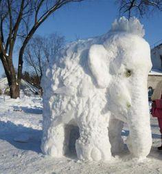 Snow Art - Elephant