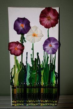 http://indulgy.com/post/b9FyMmnhD1/crayon-melt-flowers