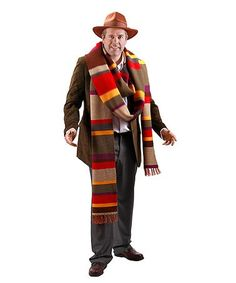 Become a your own Time Lord from Gallifrey when you slide on this Doctor Who Fourth Doctor Scarf! Now you too can right wrongs and save civilizations in style in this Doctor Who Scarf. The Doctor Scarf is handy for staying toasty warm on those col