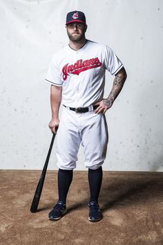 Cleveland Indians Photo Day ⚾️Mike Napoli #partyatnapolis