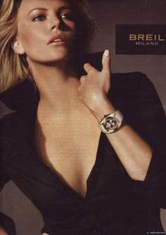 Charlize Theron for Breil Charlize Theron Oscars, Most Beautiful, Beautiful Women, Atomic Blonde, Sharon Stone, Best Actress, American Actress, Michael Kors Watch, Movie Stars