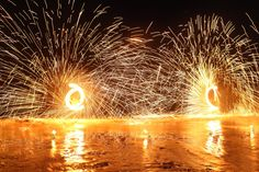 #Fire #dance on the #beach at Four Seasons Resort Koh Samui.