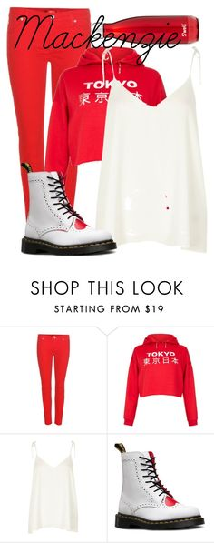 """""""Power Rangers: Mackenzie """"Mack"""" Hartford"""" by steam-vinadetta ❤ liked on Polyvore featuring 7 For All Mankind, New Look, River Island, Dr. Martens and S'well"""