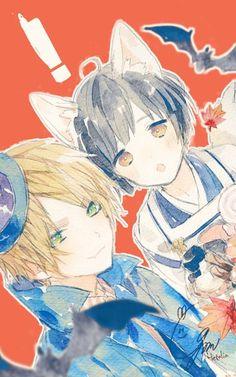 England x Japan Hetalia Japan, Hetalia Anime, Hetalia England, Hetalia Fanart, Anime Cosplay, All Anime, Anime Art, Wolf Children, Kawaii Faces