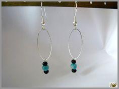boucles d'oreilles perles noires et canne vermicelles en pâte polymère polymer clay earrings  http://ellefimote.canalblog.com/