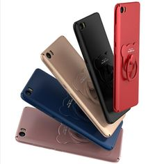 Ultra Thin Bear Ring Buckle Stand Holder PC Protective Case For Xiaomi Mi6 Mi 6