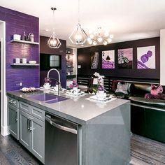 "61be40bfe Aubrey Marunde on Instagram  ""Episode 9 of Flip or a Flop Vegas! The Rock  Star PURPLE Condo!  hgtv  fliporflopvegas  interiordesign  purple  vegas"""
