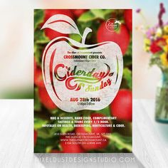 Apple Themed Invitation/Event Poster by DesigningPixelDust on Easy -Customize your apple themed poster!