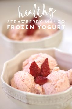 Healthy Homemade Frozen Yogurt is a great way to satisfy your sweet tooth! The perfect summer treat.
