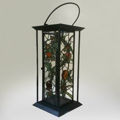 """Stained Glass Lantern - """"Vines"""" by Smash Glassworks"""