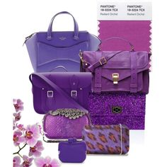 """Radiant Orchid Bags"" by ladywarrior on Polyvore"