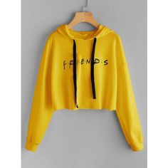 To find out about the Friends Print Drop Shoulder Raw Hem Hoodie at SHEIN, part of our latest Sweatshirts ready to shop online today! Girls Fashion Clothes, Teen Fashion Outfits, Swag Outfits, Outfits For Teens, Cute Lazy Outfits, Crop Top Outfits, Stylish Outfits, Cool Outfits, Stylish Hoodies
