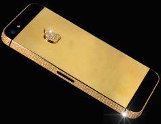 Najdroższy iPhone świata, wykonany z 24-karatowego złota. Koszt takiego telefonu to ok. 15,3 mln dolarów.