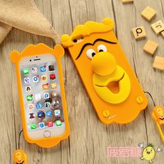 Disney 3D Cute Tigger Strap silicone rubber soft Case Cover for iPhone6 6S Plus