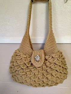 Buff colored Handbag by HandmadeByMeAndDee on Etsy